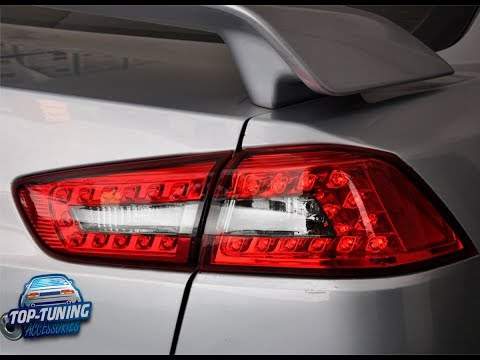 Задние тюнинг фонари для Mitsubishi Lancer X