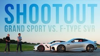 The Chevrolet Corvette Grand Sport takes on the Jaguar F-Type SVR