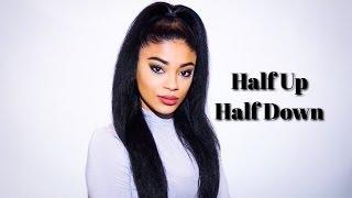 getlinkyoutube.com-Quick Half Up Half Down on Straightened Hair | jasmeannnn