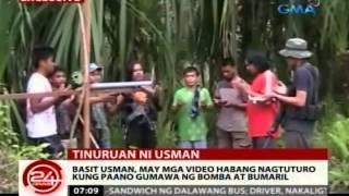 24Oras: Basit Usman, may mga video habang nagtuturo kung paano gumawa ng bomba at baril