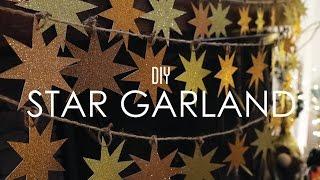 getlinkyoutube.com-Star Garland - DIY THRIFTMAS Day 1
