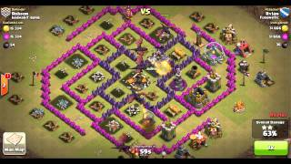 getlinkyoutube.com-Clash of Clans TH7 vs TH8: Dragon 3-Star Clan Wars Attack (Jared/Rylan) 2of2