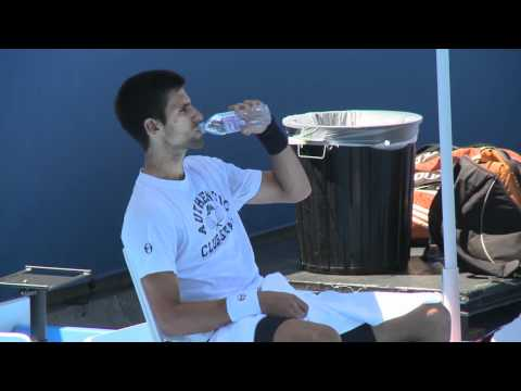 Novak Djokovic & Maria Sharapova practice sessions: Australian Open 2012