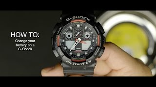 getlinkyoutube.com-HOW TO change your battery on a G-Shock watch