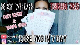 Diet 7 hari 7kg?! Tanpa gym? + My Body Story (Cara Menurunkan Berat Badan Dalam Seminggu)
