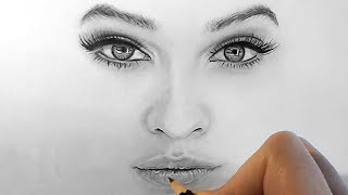 getlinkyoutube.com-How to shade and draw realistic eyes, nose and lips with graphite pencils | Emmy Kalia