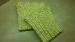 getlinkyoutube.com-CROCHET How to #Crochet Quick and Easy Boot Cuffs #TUTORIAL #149