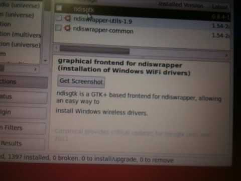 ndiswrapper on Ubuntu/Xubuntu Made Stupid Simple For Windows Wireless Drivers