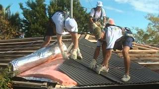 "getlinkyoutube.com-Steel Roof Installation ""The way it should be done"""