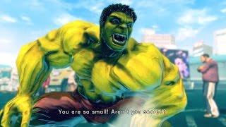 getlinkyoutube.com-Ultra Street Fighter 4 - The Hulk Costume Skin Mod Arcade Ladder 60FPS Gameplay Playthrough