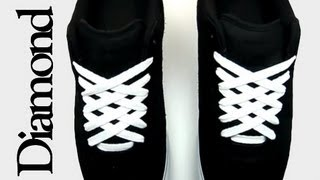getlinkyoutube.com-How to Diamond Lace shoes with Lace Anchors