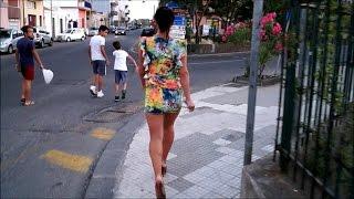 getlinkyoutube.com-I walk in shoes on a platform high heels on  Sicily