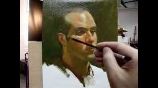 "getlinkyoutube.com-""Frank"" Alla prima painting demo from Tan's Fine Art Studio, by Zimou Tan"