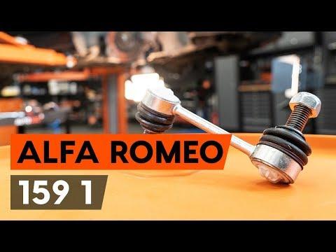 Как заменить тягу стабилизатора передней подвески ALFA ROMEO 159 1 (939) (ВИДЕОУРОК AUTODOC)
