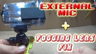 getlinkyoutube.com-Sony action cam external mic case mod & avoiding lens from fogging up