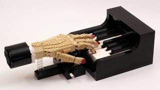 getlinkyoutube.com-The Pianist - LEGO Piano Player Kinetic Sculpture