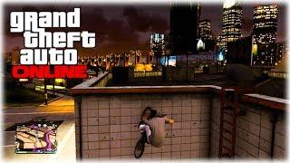 getlinkyoutube.com-GTA 5 Glitches: BMX Glitch - Ride Up Vertical Walls - How To Ride Up ANY WALL! (GTA 5 Glitches)