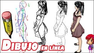 getlinkyoutube.com-dibujo de la figura de perfil, vista elevada