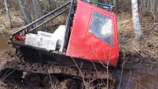 getlinkyoutube.com-Homebuilt tracked vehicle in swamp.....träskkörning i Aspnäs