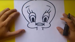 getlinkyoutube.com-Como dibujar a Piolin paso a paso - Looney Tunes | How to draw Piolin - Looney Tunes