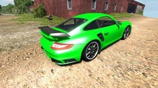 getlinkyoutube.com-BeamNG Drive Porsche 911 GT2 v4.1 Crash Testing #29