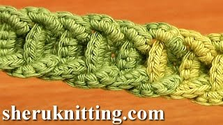 getlinkyoutube.com-Crochet Braided Cord Tutorial 56 Crochet Belts Necklaces Bracelets