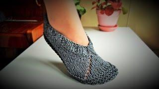 getlinkyoutube.com-Pletene zepe - pape ili popke (Knitted slippers)