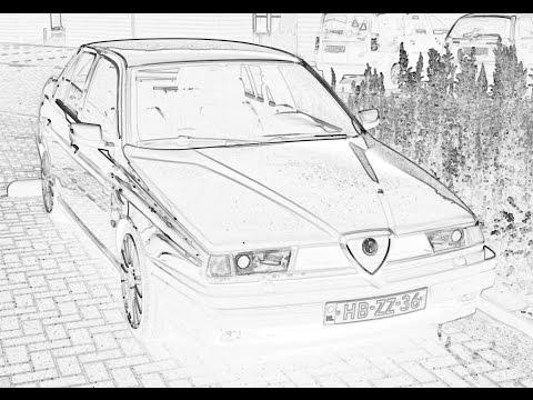 Alfa Romeo 155 2.5 V6 accelerating