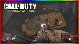 getlinkyoutube.com-Advanced Warfare: BurgerTown Zombies Glitches - NEW High Ledge Invincible Glitch! (AW Zombies)