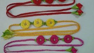 getlinkyoutube.com-Headband com rosas rococó no trançado de Soutache - Sugestão para o carnaval
