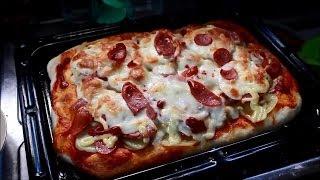 getlinkyoutube.com-【4K2K】石窯ドームで焼くトマトピザの作り方 How to make Tomatopiza