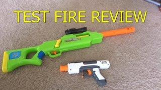 getlinkyoutube.com-NERF WAR Test Fire - Sniper Rifle - Star Wars Pistol VS Solo Cup - Accuracy