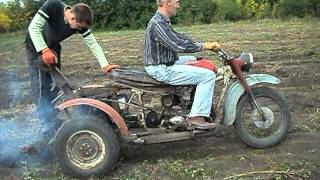 getlinkyoutube.com-самодельный трицикл-мотоблок,   двигатель ИЖ-планета с воздушным охлаждением от мотоколяски