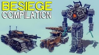 getlinkyoutube.com-►Besiege Compilation - Awesome Tanks Mechs and Trucks