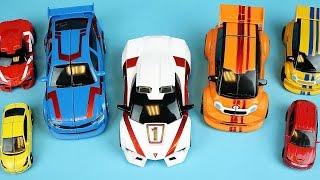 getlinkyoutube.com-TOBOT car toys and CarBot transformers mini car toys