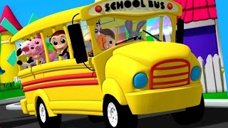 getlinkyoutube.com-Luke & Lily - Wheels On The Bus | Nursery Rhymes | Songs For Children