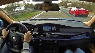 getlinkyoutube.com-BWM M5 300 KM/H Autobahn Ride! - Loud TUNNEL sounds! - 1080p HD