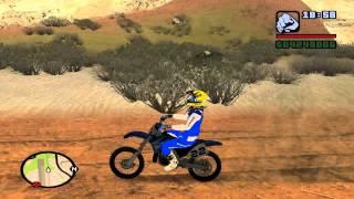 getlinkyoutube.com-GTA San Andreas || Chad Reed Skin + Yamaha YZ 250cc  || Mod*