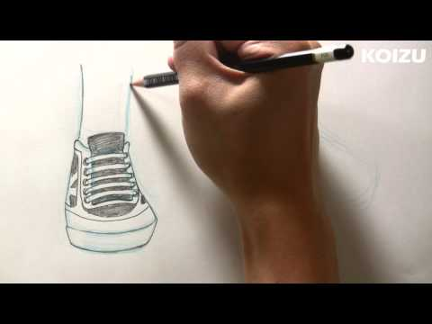 How to draw Manga Shoes! 3/4 view (part 1)