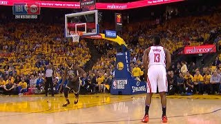 James Harden Doesn't Shoot A Wide Open 3 Point Shot! Warriors vs Rockets Game 4