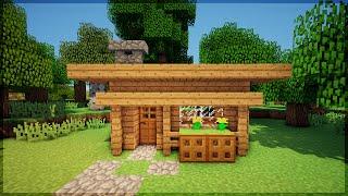 Minecraft: CONSTRUA UMA CASA BONITA EM 5 MINUTOS! (NO SURVIVAL)