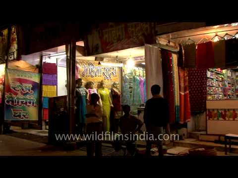 Shopping streets of Varanasi