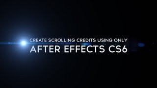 getlinkyoutube.com-Tutorial:  How To Create Movie Credits In After Effects CS6