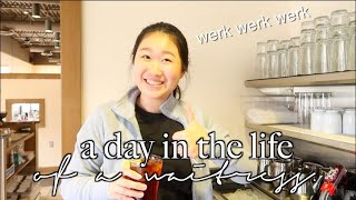 A day in the life of a waitress! COME TO WORK WITH ME