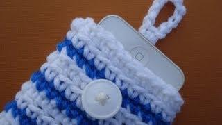 getlinkyoutube.com-Vol 01 - Crochet Pattern for cell phone cozy