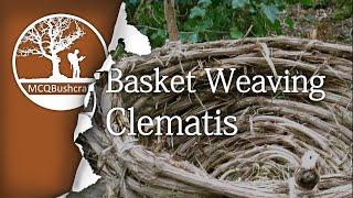 getlinkyoutube.com-Bushcraft Containers: Basket Weaving, Clematis
