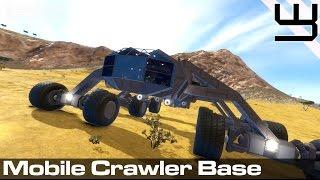 getlinkyoutube.com-Space Engineers - Mobile Planetary Base mk II - Crawler style..