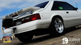 210mph 1990 Fox Body Mustang  - Standing Mile (Texas Mile)