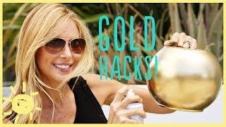 getlinkyoutube.com-DIY | 3 GOLD SPRAY PAINT HACKS!