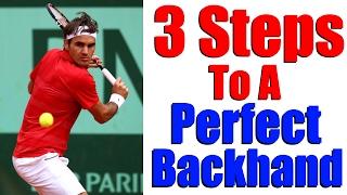 getlinkyoutube.com-How To Hit A Tennis Backhand | Modern One Handed Backhand in 3 Steps